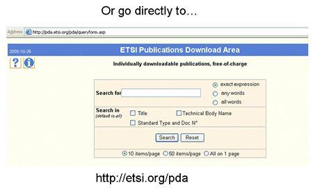 ETSI guide