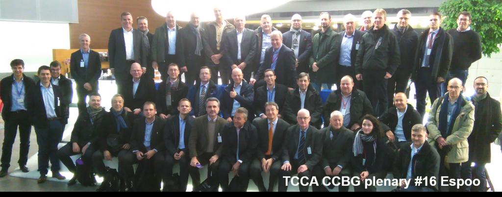 TCCA CCBG plenary #16 participants, Espoo, Finland 26102017
